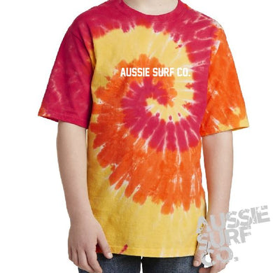 ASC Orange Multi Tie Dye - Tee or Cut Sleeve Kids