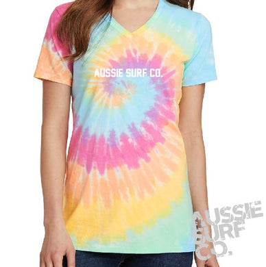 ASC Ladies Pastel Multi Tie Dye - Tee or Cut Sleeve Adult