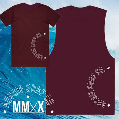 ASC MMXX Back Side Maroon Tee or Muscle