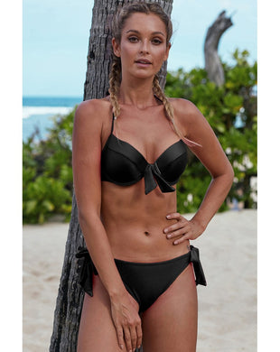 Pink OR Black Push Up Bikini with Ties