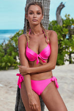Load image into Gallery viewer, Pink OR Black Push Up Bikini with Ties
