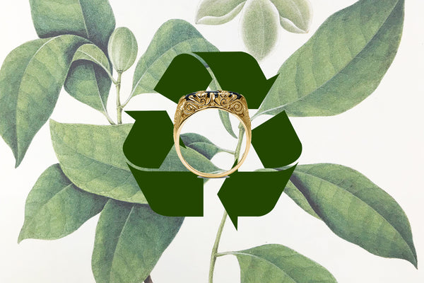 In this new dawn of sustainability, why are recycled jewels not trending too?
