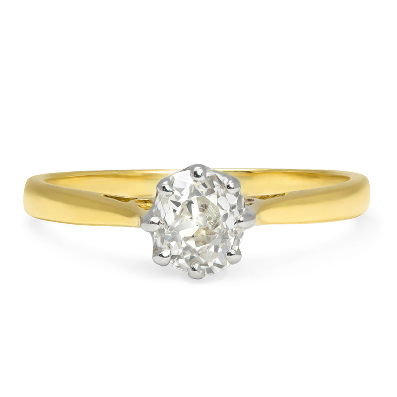 Adrienne old mine cut diamond engagement ring