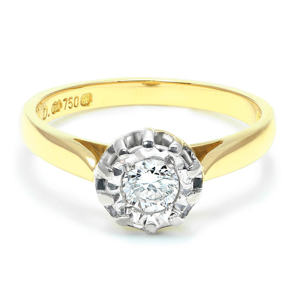Betty vintage style diamond engagement ring