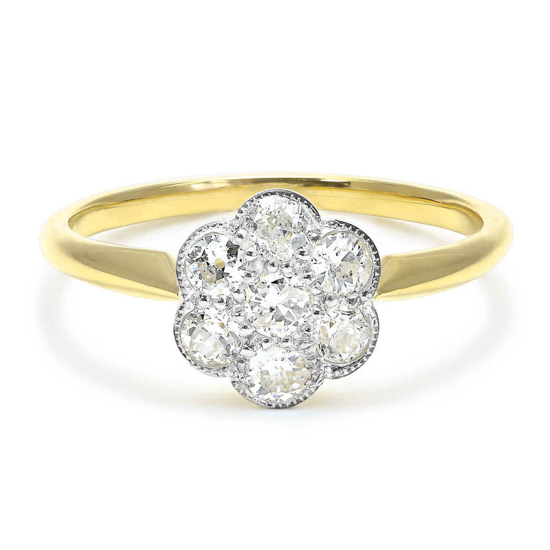 Constance diamond daisy Edwardian engagement ring