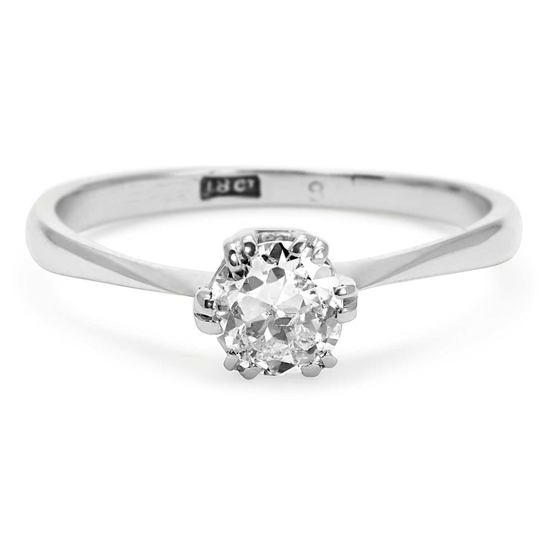 Elizabeth vintage solitaire diamond engagement ring