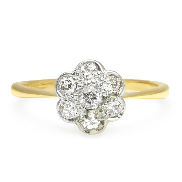 Luella Edwardian diamond daisy engagement ring