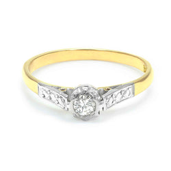Nancy vintage diamond engagement ring