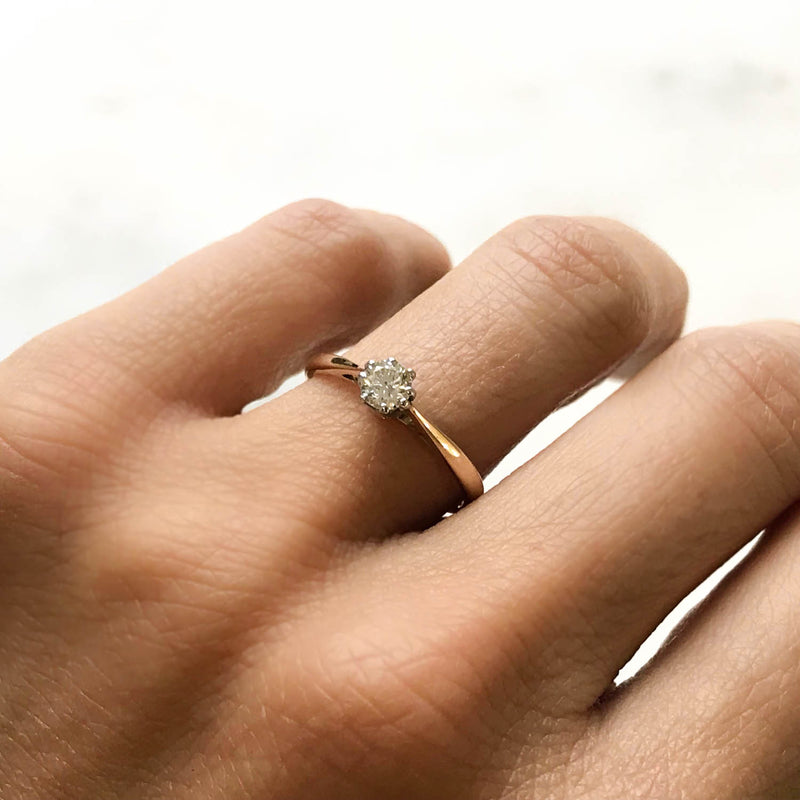 Alexandra vintage style diamond engagement ring