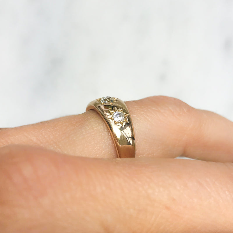Annie diamond Victorian three stone ring