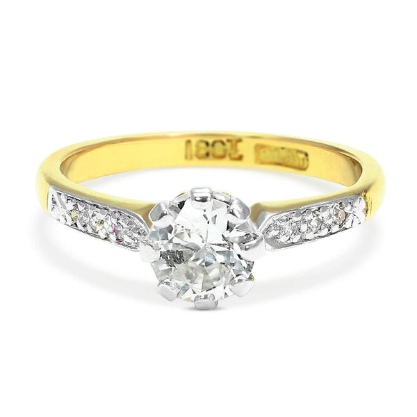 Evelyn 0.50 carat diamond mid-century engagement ring