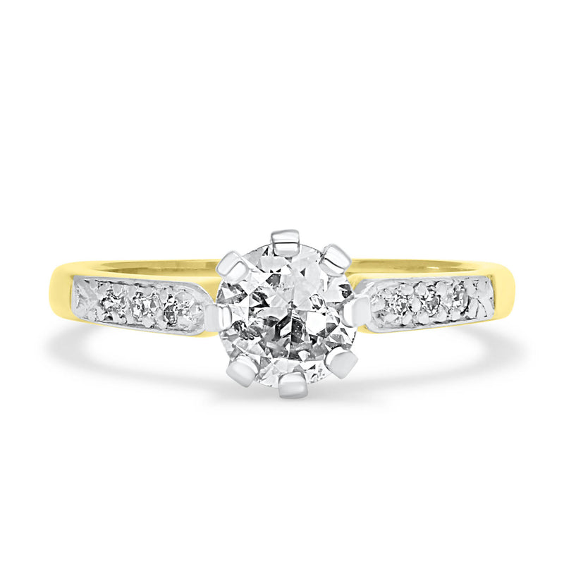 Evelyn mid-century 0.50 carat soltaire diamond engagement ring