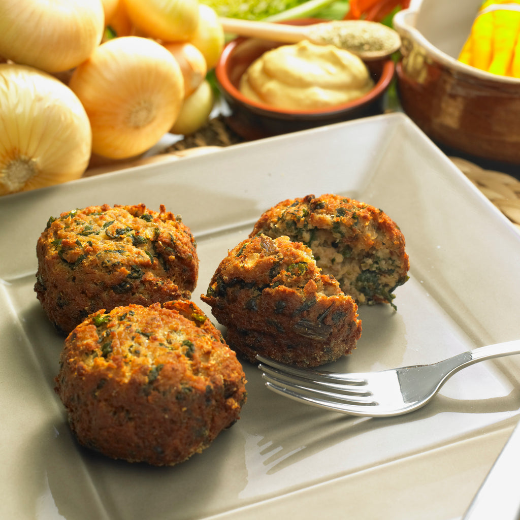 Rissoles With Spinach And Chickpeas