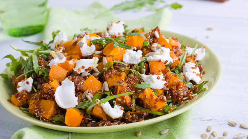 Sorghum And Butternut Salad With Raisins