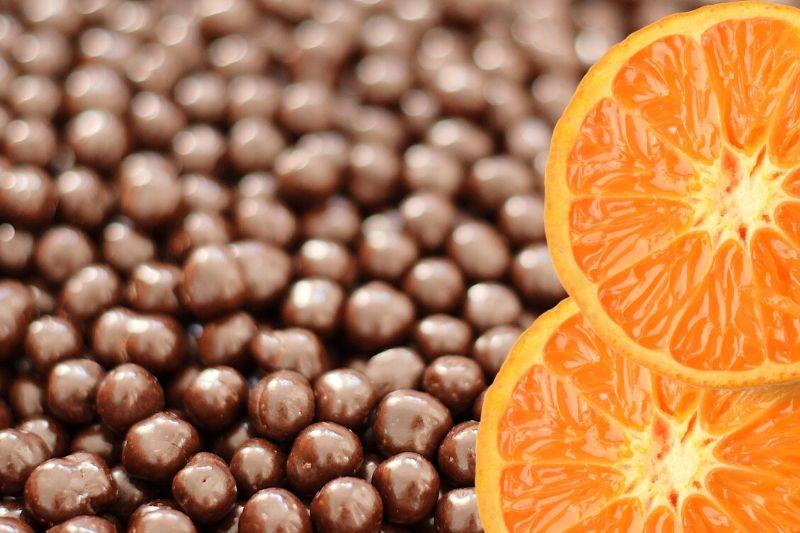 Orange Infused Dark Chocolate Chickpeas