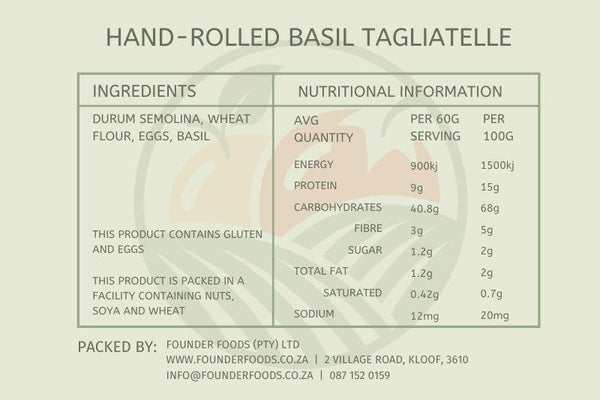 Hand-Rolled Basil Tagliatelle