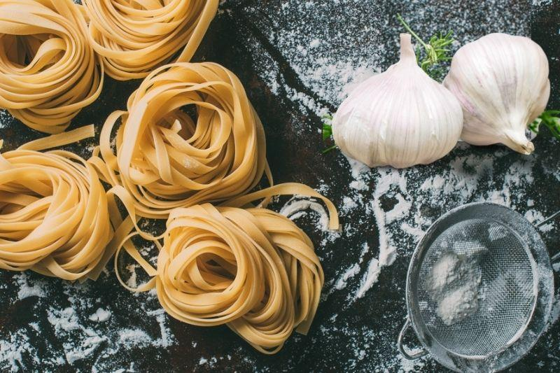 Hand-Rolled Garlic Tagliatelle