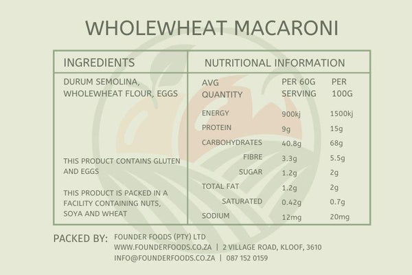 Wholewheat Macaroni