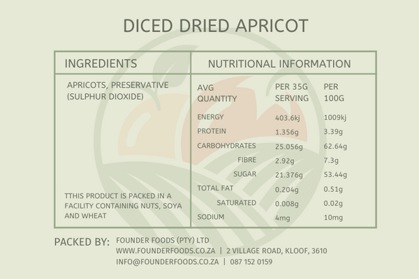 Dried Apricots - Diced
