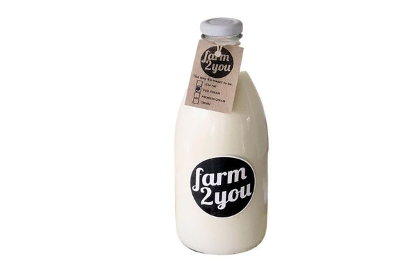 Premium Cream Farm Milk With Bottle