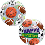 Globo Bubble Happy Birthday Deporte