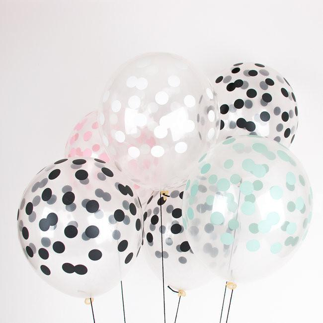 globos transparentes con lunares my little day