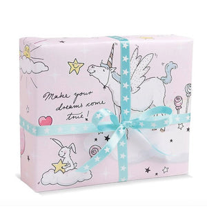 papel regalo unicornios