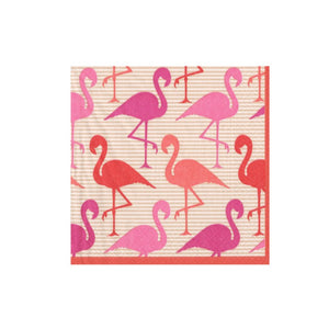 Servilletas cocktail Flamingos - 20uds