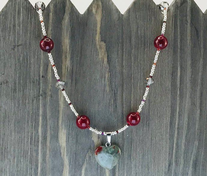 Natural Beauty - Silver and Red