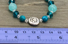 Load image into Gallery viewer, Stamped Paw Bracelet - sea green