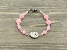 Load image into Gallery viewer, Stamped Paw Bracelet - pale pink