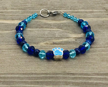 Load image into Gallery viewer, Blue Paw Bracelet - cobalt