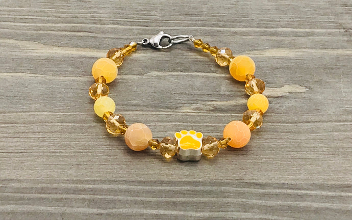 Yellow Paw Bracelet - golden