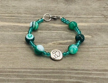 Load image into Gallery viewer, Stamped Paw Bracelet - green