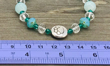 Load image into Gallery viewer, Stamped Paw Bracelet - seafoam