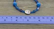 Load image into Gallery viewer, Stamped Paw Bracelet - periwinkle