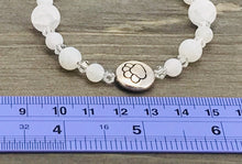Load image into Gallery viewer, Stamped Paw Bracelet - white