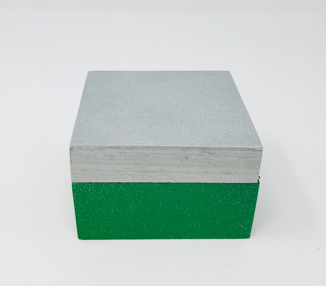 Gift Box - Green and Silver