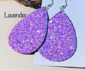 Glitter Petal Earrings