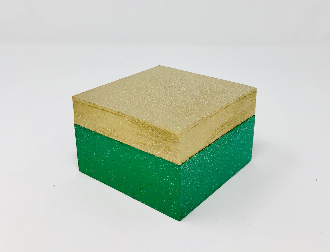 Gift Box - Green and Gold