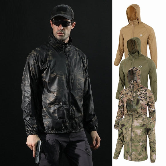 Anti-UV Windbreaker Men's Hunting Jackets for Outdoor Tactical Hiking Hunting Clothes Quick-dry Skin Cloth Camouflage Coat