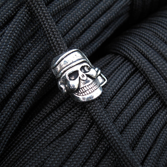 5pcs  Metal Paracord Beads Charms Skull for Paracord Bracelet Accessories Survival DIY Pendant Buckle Decorate Knife Lanyar