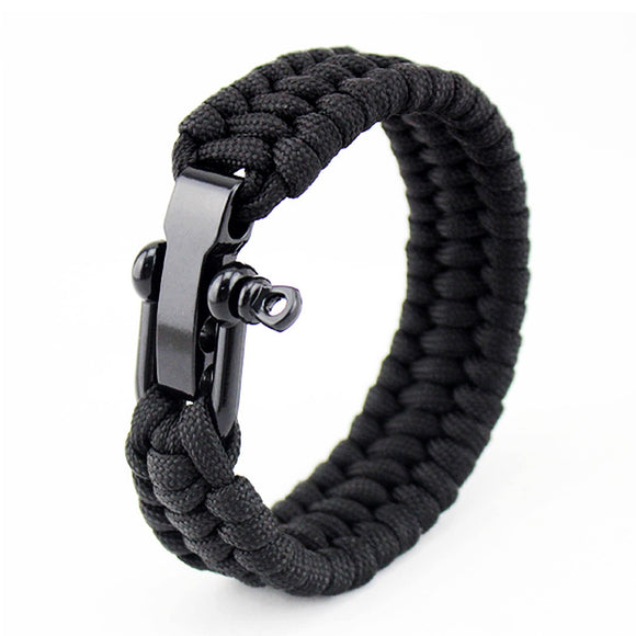 23CM EDC Camping Hiking Emergency Tactical Survival Braided Rescue Umbrella Rope Outdoor Bracelets Parachute Cord Paracord