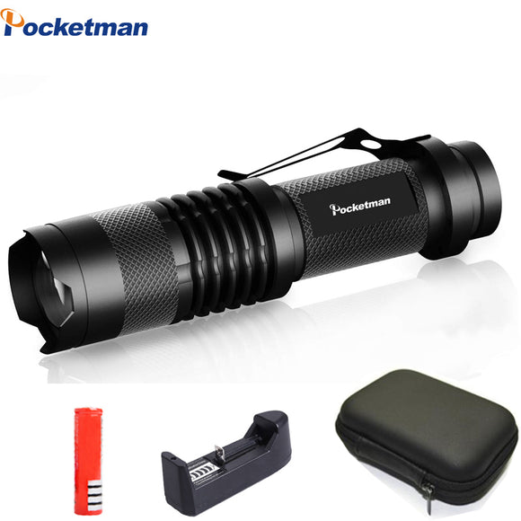 8000LM Led flashlight Super Bright Adjustable torch Q5/T6/L2 linterna led lanterna Zoomable  fishing Camping Bicycle Light