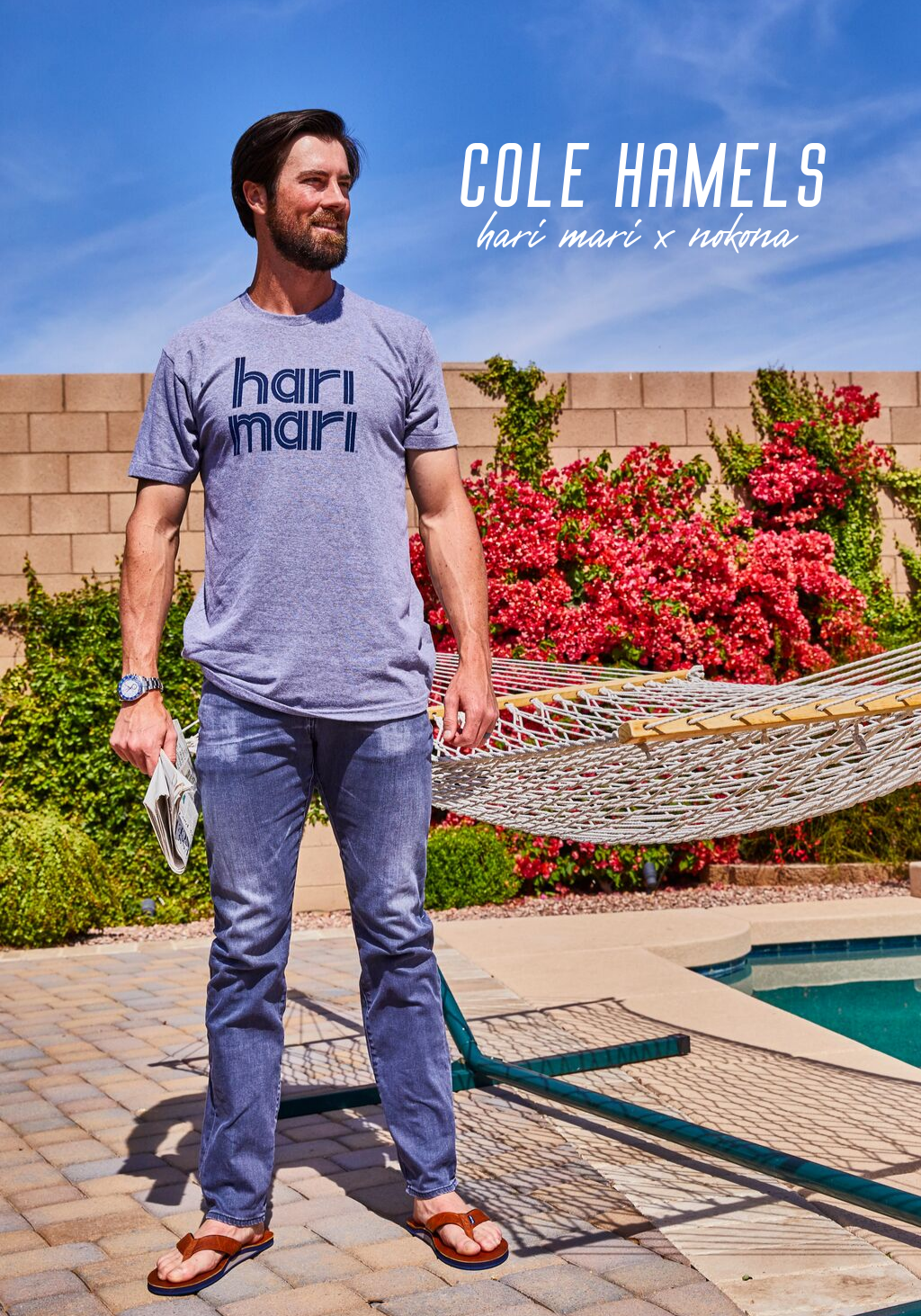 Cole Hamels for hari mari x nokona