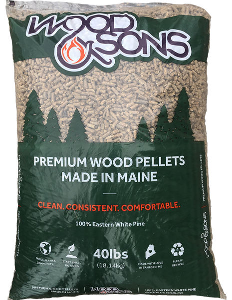 Wood & Sons Premium Softwood Pellets (1 Ton)