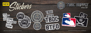TBOC Stickers now available for purchase!