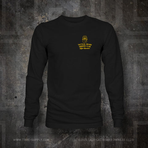 "TBOC Embroidered Long Sleeve ""Life Member"" – Black - TBOC Supply"