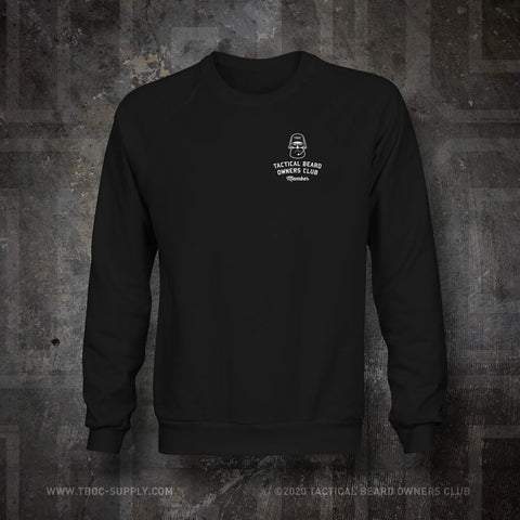 "TBOC Embroidered Sweatshirt ""Member"" – Black - TBOC Supply"