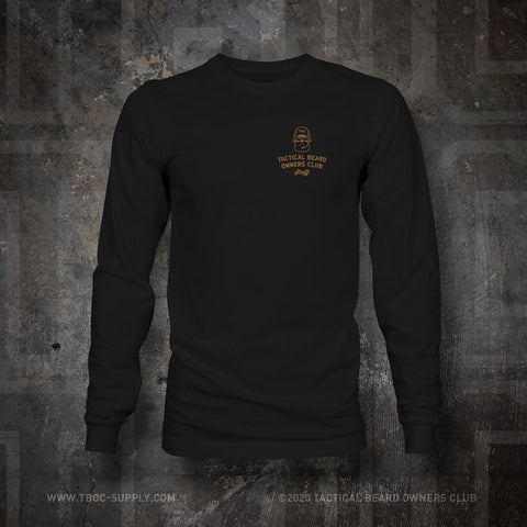 "TBOC Embroidered Long Sleeve ""Staff"" – Black - TBOC Supply"